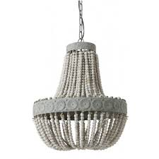 wood bead ceiling light lamb