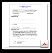 Credit Release Form Vanguard Properties Lease Applications