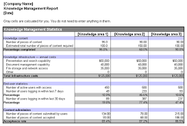 Microsoft Excel Report Templates Knowledge Management Report Office Templates