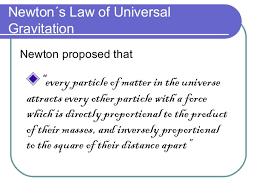 6 2 newtons law of gravitation