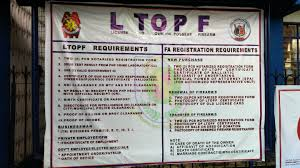 license to own and possess firearm ltopf requirements process