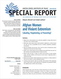 women s afghan women and violent extremism united states institute of peace