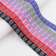 ribbon grosgrain iubufigo 10y 5 8 16mm elastic skull reflective ribbon grosgrain