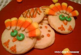 turkey cookies for thanksgiving turkey cookies white lights on wednesday