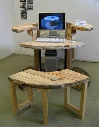 How To Make A Computer Desk Make Computer Desk From Cable Reel Gentlemint