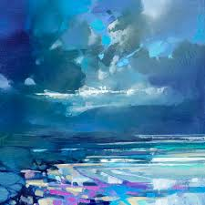 vibrant oil paintings of scottish landscapes by scott naismith working with thick brushes and palette knives