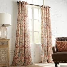 Burlap Window Treatments Curtain Feather Curtains Boho Curtains Patterned Drapes
