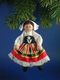 italy clothespin doll ornament italian doll white and