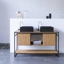 meubles en bambou meuble salle de bain u2013 vente de meubles en teck et métal 140 cm