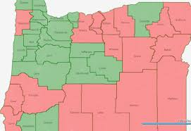 map of oregon with counties oregon voter registration trends