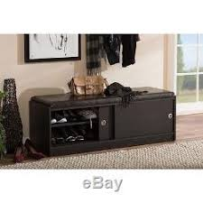 Shoe Storage Bench With Seat Bench Seat Entryway Wood Shoe Rack Cushiontop Bedroom Hallway
