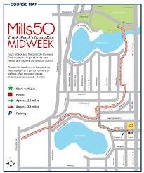 Orlando Urban Trail Map by Track Shack Weekly Group Run