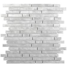 Aluminum Tile Backsplash by Aluminum Mosaic Tile Random Brick Mosaics Bricks And Kitchen