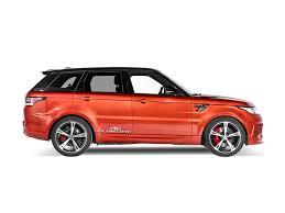 orange range rover sport schnitzer tweaks range rover sport