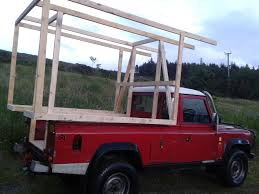 homemade pickup truck demountable camper for land rover 110 diy demountable camper