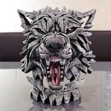 wolf bust edge sculpture ornament be fabulous