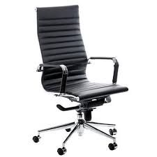 Leather Office Chair Swale High Back Black Leather Office Chair Key