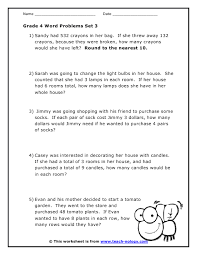 math problems for grade 4 grade 4 word problems set 3