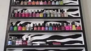 how to make a nail polish rack wood youtube