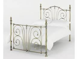 bentley designs rebecca antique brass plated metal bed frame
