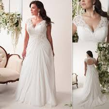 plus size wedding dresses cheap plus size wedding dresses cheap 2017 v neck pleats chiffon