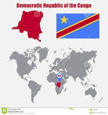 Republic Of Congo Map Congo Democratic Republic Of The Congo World Map Stock Photo