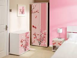Purple Bookcase Pink Bedroom Accessories For Adults Purple Floral Wallpaper Beside