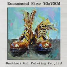 popular oil shoe buy cheap oil shoe lots from china oil shoe top artist hand painted high quality modern man s shoes oil painting on canvas hand