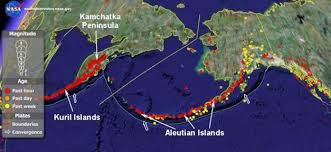 map of aleutian islands great sitkin flank collapse in the aleutians