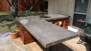 Outdoor Kitchen With Concrete Countertops 8 Steps With Picture by Kitchen Outdoor Kitchen Countertop Ideas Best For Best Countertop