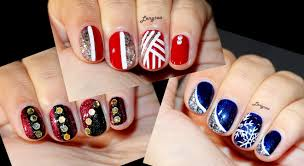 three christmas designs for short nails 1 youtube