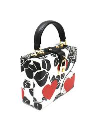 onsale rose flower print medium box satchel rose heart fashion handbags