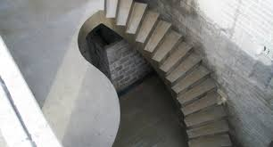 curved handrails curved concrete stairs uk insitu stairs bespoke