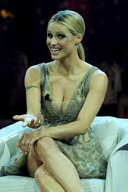 Michelle Phillips Michelle Hunziker Guest In Tv Show In Milan