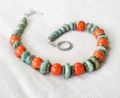 turquoise silver necklace jewelry images A madagascar turquoise necklace to notice with coral and silver