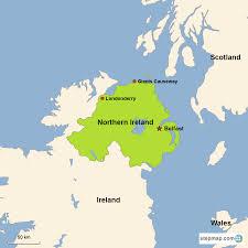 Northern Ireland Map Northern Ireland Vacations With Airfare Trip To Northern Ireland