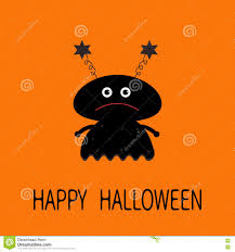 cute happy halloween images happy halloween card black silhouette monster with eyes
