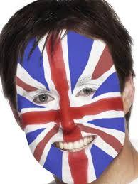 Flag Face Union Jack Face Painting Kit Mu092 Fancy Dress Ball