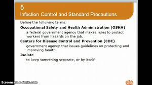 chapter 5 hlth 111 infections control youtube