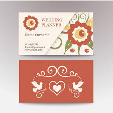 wedding planner business vintage template business card for a wedding
