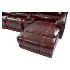 theodore burgundy power motion leather sofa w right chaise el