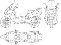 motorcycle bike blueprints for 3d modeling cgfrog