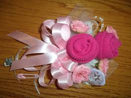 baby sock corsage baby sock baby shower corsage handmade infant baby shower corsage