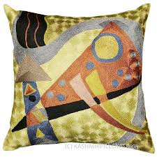 Accent Sofa Pillows by Kandinsky Pillow Cover Silk Composition Vii Hand Embroidered 18 U2033 X