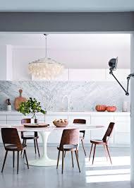 cuisine marbre blanc table de cuisine en marbre