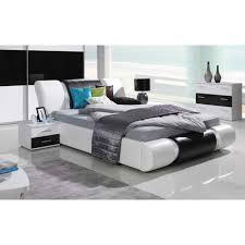 meuble chambre blanc laqué ensemble meubles design pour chambre à coucher blanc et noir