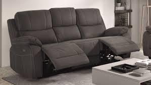 canapé relax design canapé de relaxation 3 places moderne en tissu gdegdesign