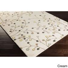 Area Rug 9 X 12 Overstock Tufted Branch Floral Wool Area Rug 9 X 12