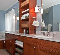 double sink vanity with middle tower beautiful double vanity with tower attractive bathroom vanity