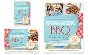 summer bbq flyer u0026 ad template design